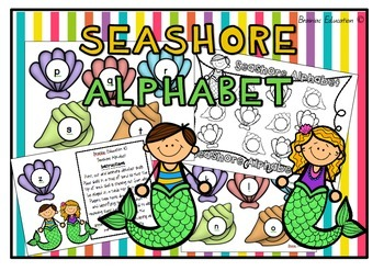 Seashore Alphabet Game - US Font