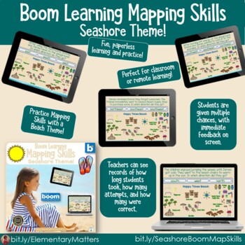 Seashore Bundle with BOOM Learning Digital Task Cards