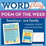 Seashore Fun -ore Word Family Poem of the Week - R Control