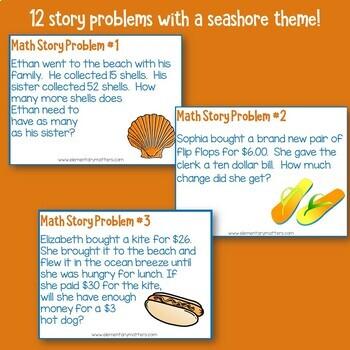 Seashore Math Story Problems