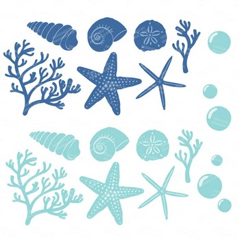 Seashore Shells & Coral Clipart in Oceana