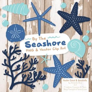 Seashore Shells & Coral Clipart in Oceana