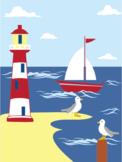 Seaside - A Five Senses Poem - Sight Sound Touch Smell Taste - inc. audio MP3