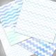 Seaside Blue Digital Paper Pack - 12x12 - High Resolution .JPG Files