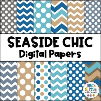 Seaside Chic Digital Paper Pack