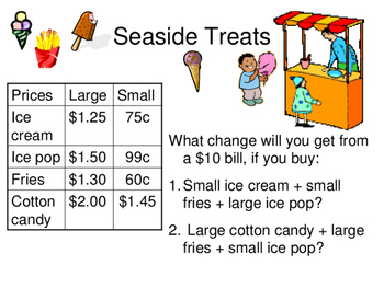 SEASIDE MATH POWERPOINT QUIZ