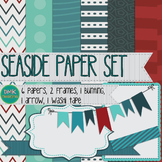 Digital Paper and Frame Set- Seaside