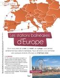 French text + activities+ teacher's prep: Les stations balnéaires d'Europe