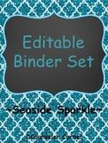 Seaside Sparkle Editable Binder Set