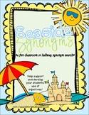 Seaside Synonyms- A Classroom or Hallway Synonym Hunt