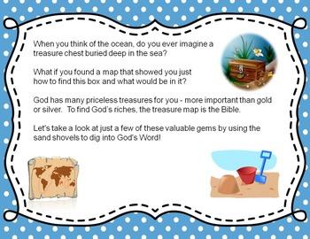 Seaside Treasures - Bible Task Cards