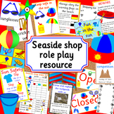 Seaside shop role play activity pack- holidays, sea