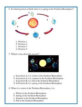 Season Assessment - 4th Grade Science