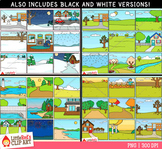 Season Background Scenes Clip Art Bundle
