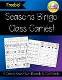 Season Bingo Games {Freebie!}
