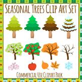 Season Clip Art - Seasonal Trees Clip Art for Commercial Use