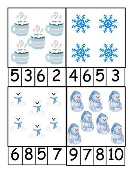 Season Counting Clip Card Bundle