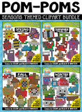 Seasons Fuzzy Pom-Poms Clipart Mega Bundle {Zip-A-Dee-Doo-Dah Designs}