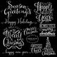 Season Greetings Holiday Spirit  - Inspirational Word Art Photo Overlays Digital