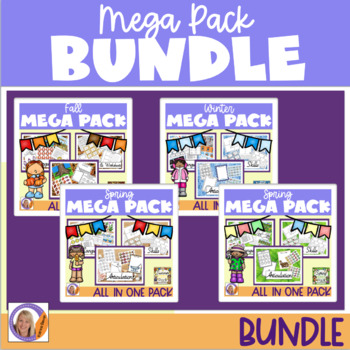 Year Round Bundle Season Mega Packs-Language, Social skills, Articulation
