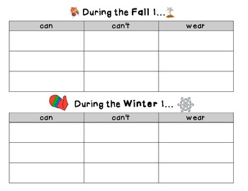 Season Pack {graphic organizers, compare/contrast, and favorite season}