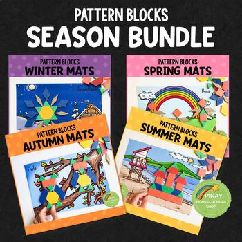 Season Pattern Blocks Puzzle Mats Bundle