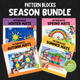 Season Pattern Blocks Puzzle Mats Bundle