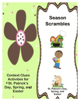 Season Scrambles: Activities for St. Patrick's Day, Spring, and Easter