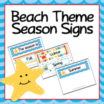 Season Signs Beach Themed