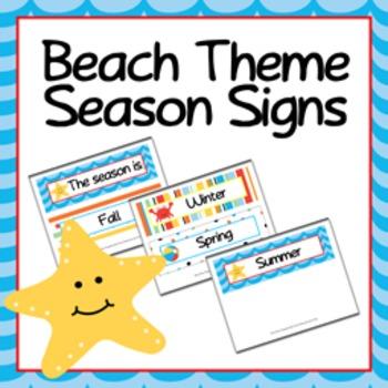 Season Signs Beach Themed