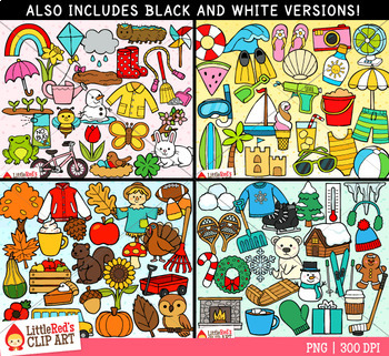 Season Symbols Clip Art Bundle