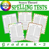 Season-Themed Spelling Tests Grades K-2