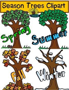 Season Trees Clipart FREEBIE