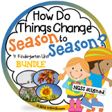 Season Unit Bundle Fall Winter Spring Summer Kindergarten Science Social Studies