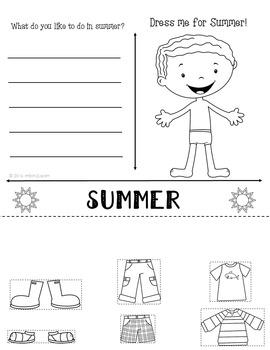 Season Unit Bundle Fall Winter Spring Summer Kindergarten Science Social Studies