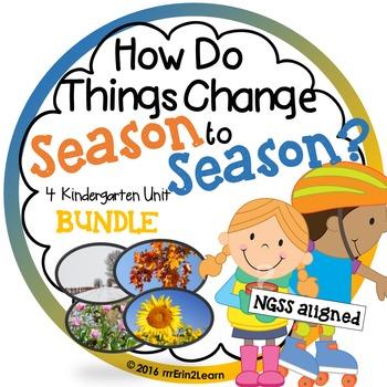 Season Unit Bundle Fall Winter Spring Summer Kindergarten