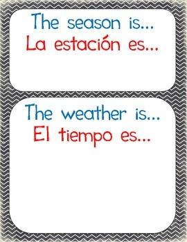 Season-Weather Chart - Bilingual