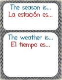 Season-Weather Chart - Bilingual