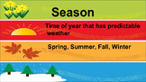 Season/Weather Vocabulary PowerPoint