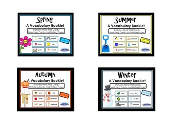 Season Words Writing Booklets: A Bundle