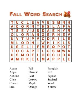 Season and Holiday Word Searches