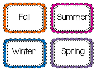 Season Fun: A pocket chart activity