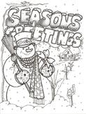 "Season""s Greeting Christmas Coloring Sheet"