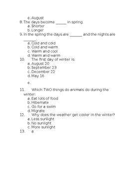 Season's Quiz