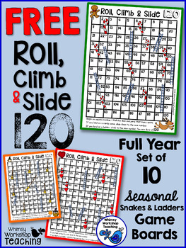 Seasonal 120 Chart Game Boards