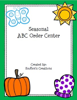 Seasonal ABC Order Centers Pack