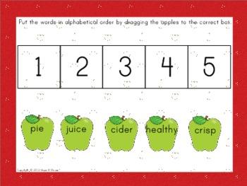 Seasonal ABC Order for Interactive Whiteboard Set 1