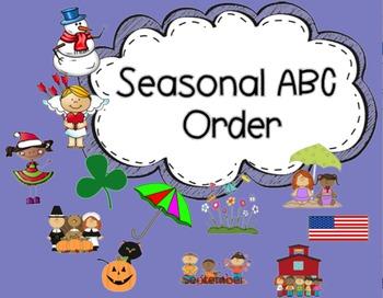 ABC Order {Seasonal}