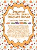 Seasonal Acrostic Poem Template Bundle