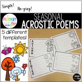 Seasonal Acrostic Poem Templates